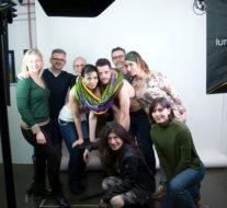 Backstage del servizio fotografico